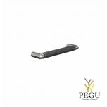 Мебельная ручка FROST Beat 128 чёрная кожа/полированная