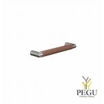 Мебельная ручка FROST Beat 128 коричневая кожа/полированная