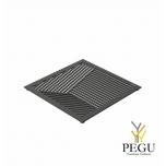 Подставка под горячее TRIVET2, 150x150mm квадратный рисунок, Н/Р сталь чёрная