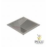 Подставка под горячее TRIVET2, 150x150mm квадратный рисунок, Н/Р сталь полированная