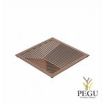 Подставка под горячее TRIVET2, 150x150mm квадратный рисунок, Н/Р сталь медь