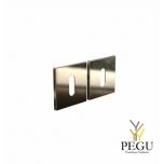 FROST Накладка для сердечника дверного замка KUBE 3002,50mm*50mm золото