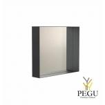 Зеркало Frost UNU с рамой , 500x500 чёрное