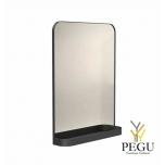 Зеркало Frost  с полочкой , 800x600 чёрное