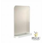 Зеркало Frost  с полочкой , 800x600 белое