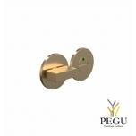 Туалетный замок-индикатор ELEMENT 2001, d50mm матовое золото