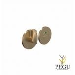 WC  замок с индикатором HB202, d50mm матовое золото