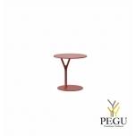 Wishbone столик, D450xH450mm, красный