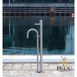 Frostline незамерзающий уличный кран для воды DUO L30 28-32l/min Н/Р сталь