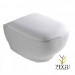 Globo Genesis seinale kinnituuv WC pott 55x37 cm valge (ilma istmeta)