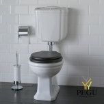 WC pot Paestum madal loputuskast, kroom, allajooksuga, puit iste soft-close