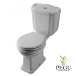 WC Pestum выход в пол, хром PA004BI+PA012BI+VA124+PA138