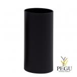 Урна Pieno Midi 25x50cm, гладкая, чёрная
