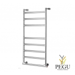 Полотенцесушитель лестница электрический Margaroli SERENO 574/8/S хром латунь 905x380 mm