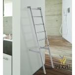 Полотенцесушитель электрический лестничный Margaroli SCALA 680 хром латунь 1700x410 mm