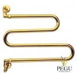 Käterätikuivati veele Margaroli VENTO 406 kuld messing 420 × 500 mm