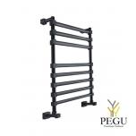 Полотенцесушитель лестница водяной Margaroli Sole 464/8TQ чёрный латунь 752x390 mm