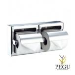 Mediclinics MEDISTEEL Двойной держатель для туалетной бумаги нержавеющая сталь матовый