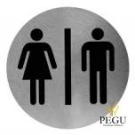 """Пиктограмма """"MAN/WOMEN"""", на клей, Н/Р сталь,сатин"""