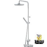 MORA душевой комплект Inxx, хром ( 150 mm подсоединение термостата )