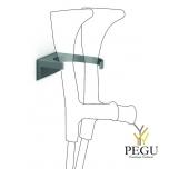 Jalutuskepi/kargu hoidik seinale Normbau 095 antratsiit antibakteriaalne värv