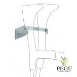 Настенный держатель для трости/костылей 093 бежевый антибактериальная краска