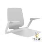Normbau Ascento инвалидное душевое сиденье с ручками и спинкой 412x512 Белое
