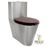 WC pott roostevaba terasest, loputuskastiga, 2 süsteemne + iste mahagon