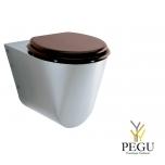 WC подвесной INS-535-OVC + сидение махагон