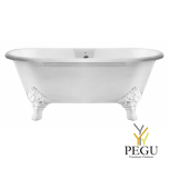 Чугунная ванна RECOR Carlton, 178 x 80,  Белое внешнее покрытие,  ножки CARLTON чугун белые