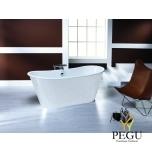 Чугунная ванна RECOR Iris 170 x 68,  белое внешнее покрытие