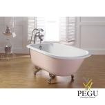 Чугунная ванна RECOR Roll Top, 154 x 77, RAL внешнее покрытие,  ножки Aster чугун хром