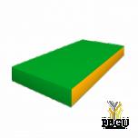Romana мягкий мат 100x50x10 cm зелёный/жёлтый