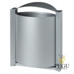 Уличная урна для мусора настенная ARKEA 40L металлик серый RAL9006