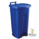Мусорный бак с педалью и крышкой BOOGY 90L пластик синий
