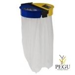 Держатель для мусорных пакетов настенный 2-ой 110L CITWIN PREMIUM серый-синий-жёлтый
