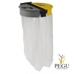 Держатель для мусорных пакетов настенный 2-ой 110L CITWIN PREMIUM магний-синий-жёлтый