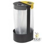 Держатель для мусорных пакетов напольный 2-й 75L CITWIN ESSENTIEL серый- серый-жёлтый