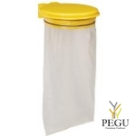 Дежатель для мусорного мешка с крышкой COLLECMUR ESSINTIEL 110L настенный жёлтый RAL1021