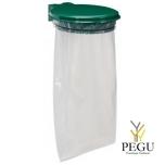 Дежатель для мусорного мешка с крышкой COLLECMUR ESSINTIEL 110L настенный moss зелёный RAL6005