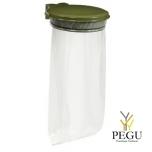 Дежатель для мусорного мешка с крышкой COLLECMUR ESSINTIEL 110L настенный olive зелёный RAL6003