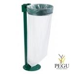 Prügikotihoidja kaanega postiga maapinnale COLLECMUR EXTREME 110L moss roheline RAL6005