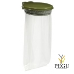 Дежатель для мусорного мешка с крышкой COLLECMUR EXTREME 110L настенный olive зелёный RAL6003
