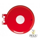 Prügikotihoidja kaanega ja lukuga COLLECTRAP ESSINTIEL 110L seinae traffik red RAL3020