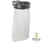 Дежатель для мусорного мешка ECOLLECTO ESSENTIEL 110L настенный магний серый