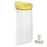 Дежатель для мусорного мешка ECOLLECTO ESSENTIEL 110L настенный жёлтый RAL1021
