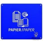 Настенный знак для сортировки мусора Бумага ультрамарин RAL5002