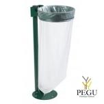 Держатель для мусорного мешка без крышки ECOLLECTO EXTREME 110L напольный moss зелёный RAL6005
