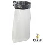 Дежатель для мусорного мешка ECOLLECTO EXTREME 110L настенный магний серый