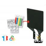 Пластина для сортировки мусора серый магний+наклейки 2 шт